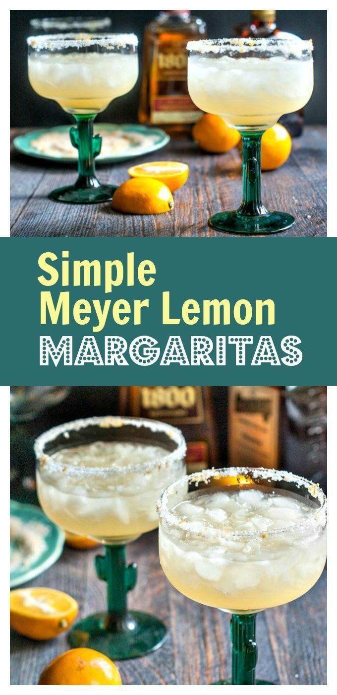 Simple Meyer Lemon Margaritas - #SundaySupper - refreshing, festive, delicious!