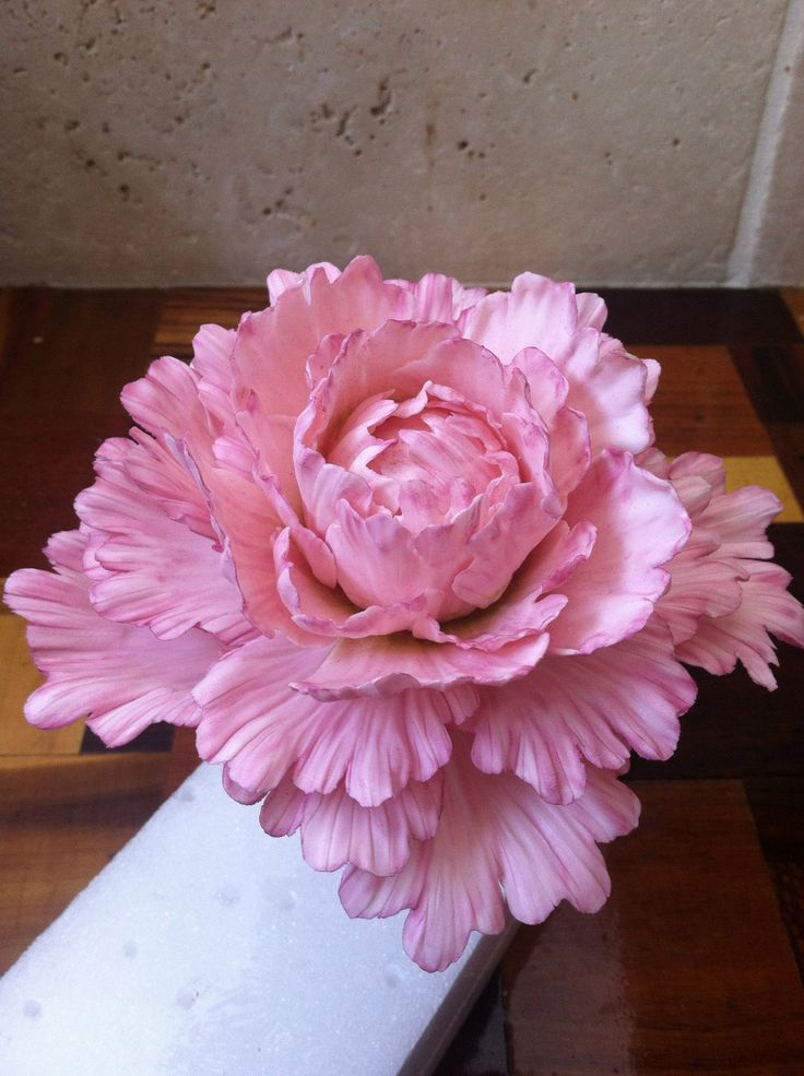 How to Make a Gum Paste Peony: great instructions
