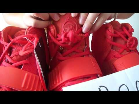 Air Yeezy 2 red October Real VS Fake - http://maxblog.com/4387/air-yeezy-2-red-october-real-vs-fake/
