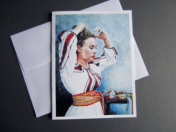 Ukrainian greeting card Wedding card Bridal shower card