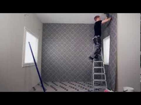 Tapetointi: nonwoven-tapetti ja tasoitustapetti - PROF. How to install wallpaper.