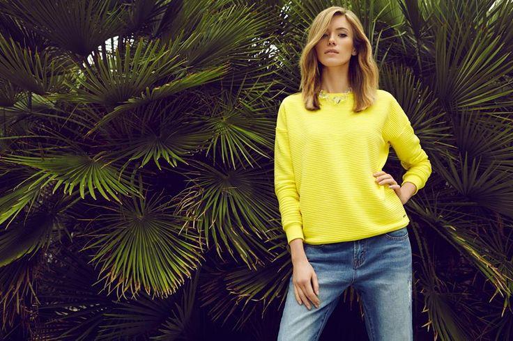 żółta bluza damska i spodnie boyfriend #topsecret