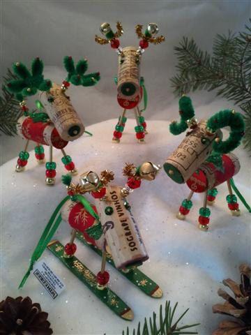 WINE CHRISTMAS ORNAMENT - Winedeer-Very Merry Moose-Bighorn Sheep-Barbera