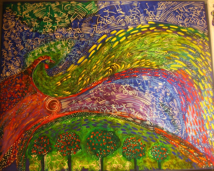 "Jale Yılmabaşar, Turkish Artist   the painting from ""the 50th anniversary in Arts"" collection: Işık Gallery, Nisantası, Istanbul"