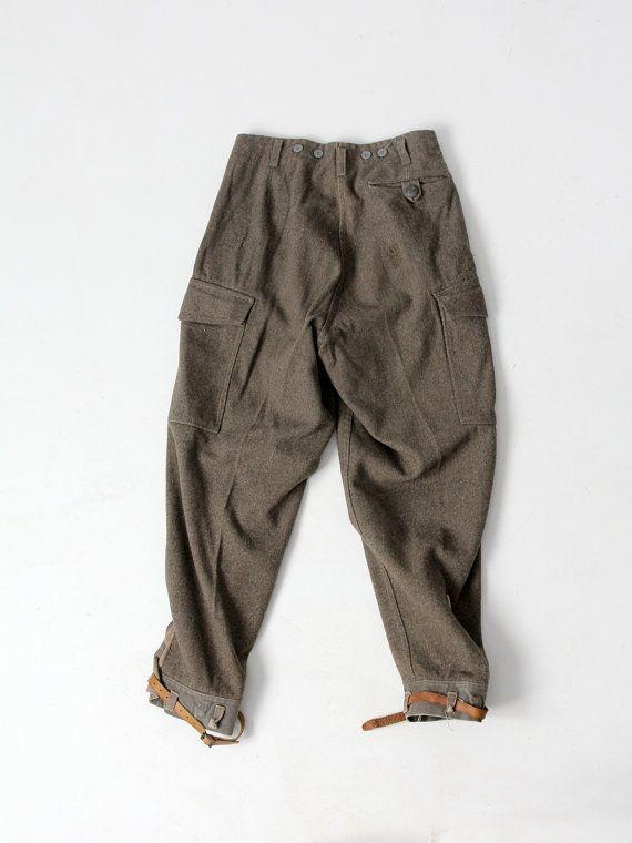 Pantalones del ejército sueco de WWII pantalones de por IronCharlie