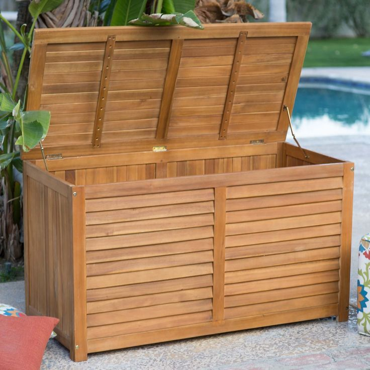 Waterproof Garden Storage Cabinet Deck Box Storage Patio Storage Box Waterproof Garden Storage