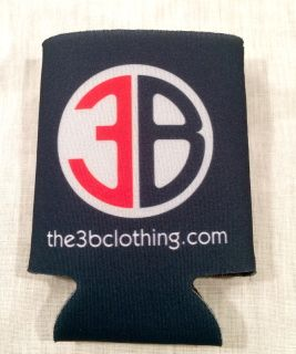 Keep your drink cool and your drink looking cooler with one of our 3B koozies this season!