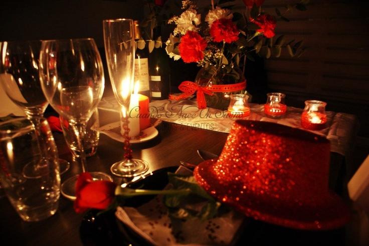 Cena de san valentin san valentine romantic eventos - Ideas cenas romanticas ...