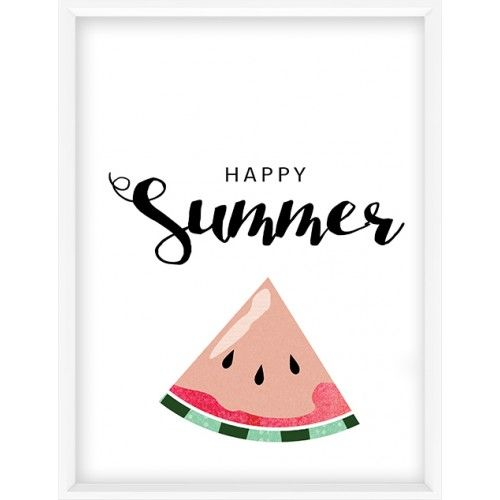 Happy summer quote art print-46