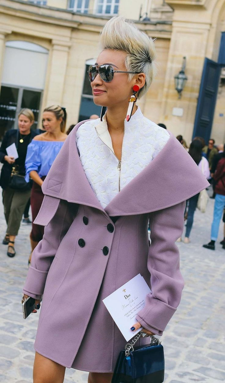 Esther Quek spotted on the street at Paris Fashion Week. Photographed by Phil Oh.