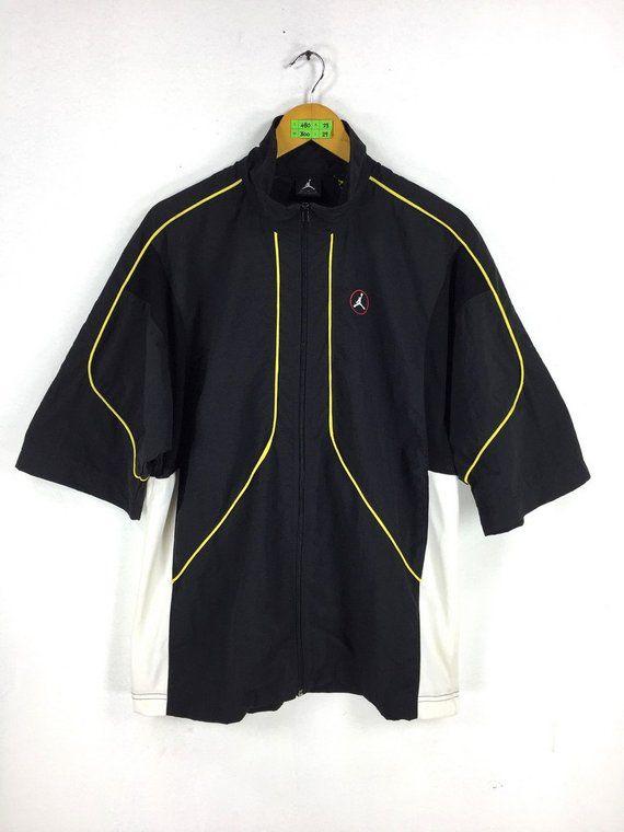 96c068a606ec Vintage 90 s NIKE JORDAN Jacket Medium Vintage Nike Air Jordan Basketball  Nba Sportswear Short Sleeve Windbreaker Jacket Size M