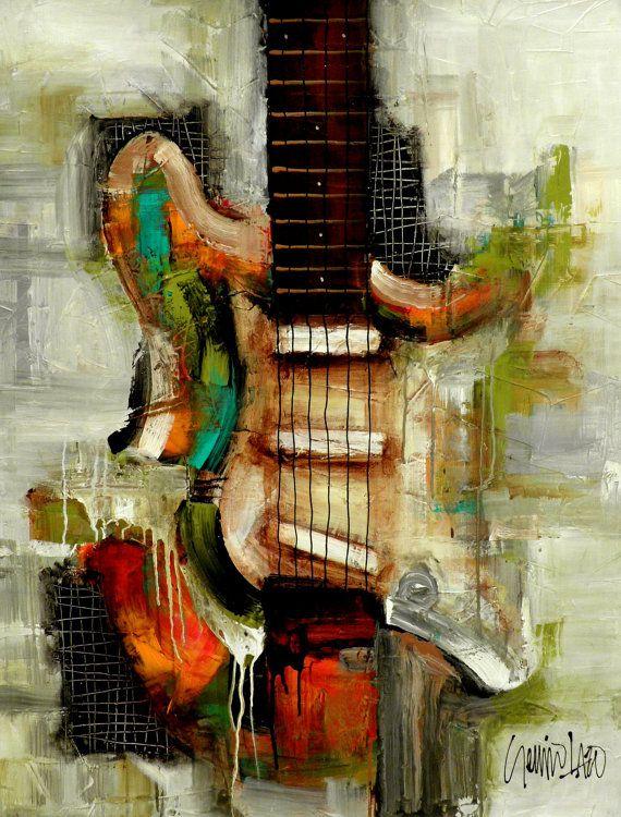 Pintura original arte abstracto moderno por SLAZO 30 por SlazoArt