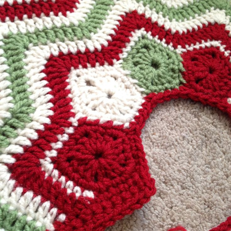 free crochet ripple christmas tree skirt pattern Car Tuning