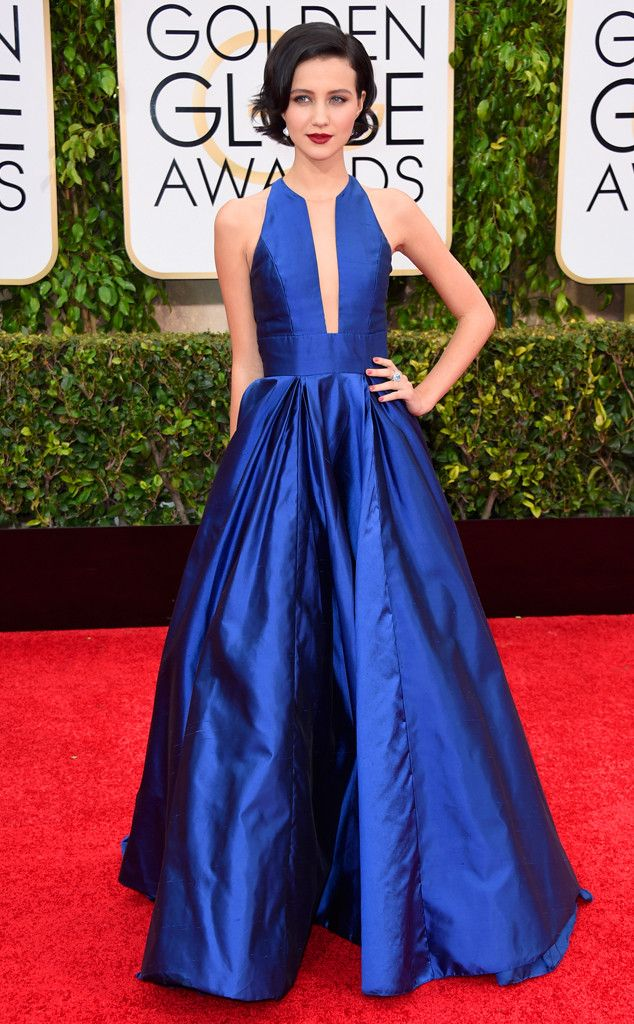 Julia Goldani Telles' structured blue gown is just lovely!