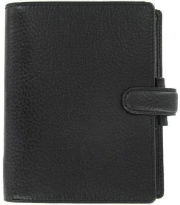 Filofax - Finsbury Organizer - Black Leather - Pocket
