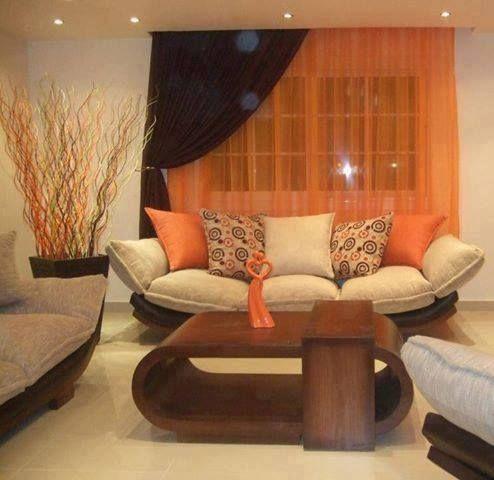 Salas naranjas con beige buscar con google ideas para for Living room 4 pics 1 word