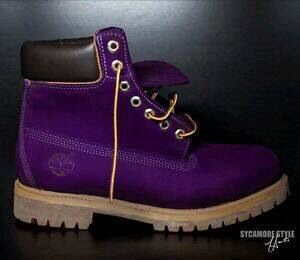 Purple work boots