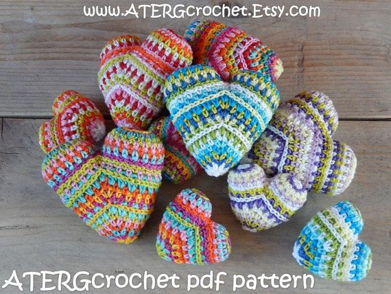 Crochet pattern HEART mini & maxi by ATERGcrochet by ATERGcrochet