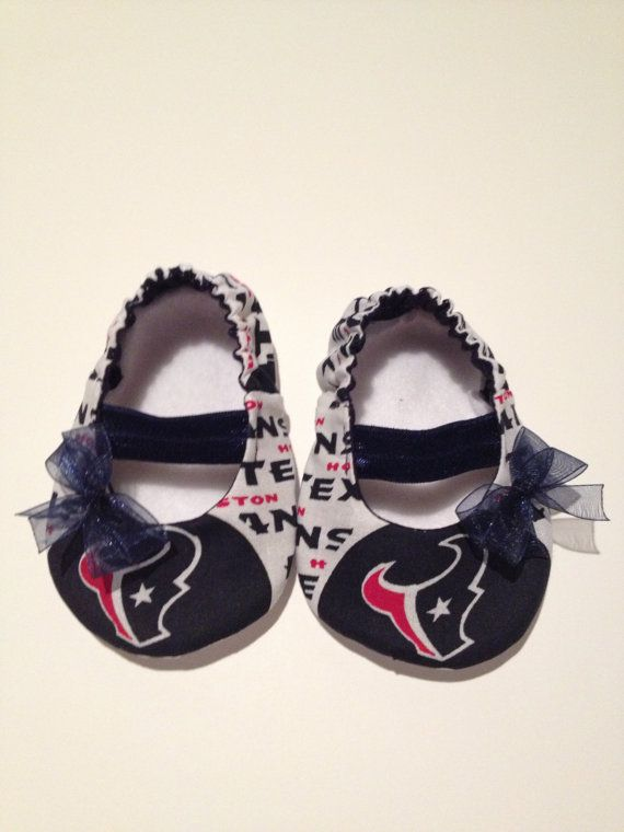 Houston Texans Baby Maryjane Booties by saluna on Etsy