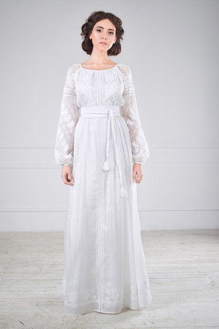 Сукня весільна вишита, фото 1