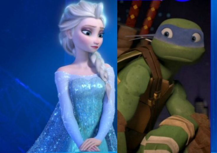 Elsa knew the turtles once upon a time Disney princess