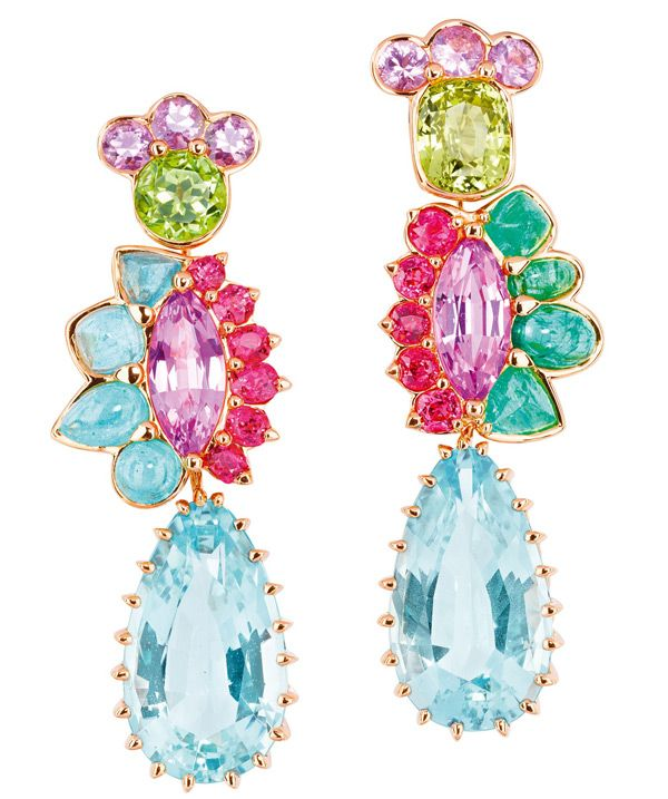 Rosamaria G Frangini | High Colorful Jewellery | Multicoloured earrings from the Granville collection by Dior Joaillerie
