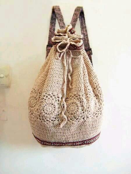 Cute Crochet Back Pack