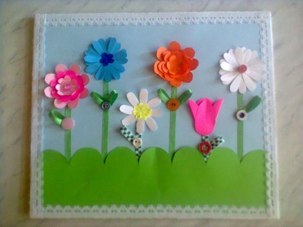 Воздушный поцелуй, поздравительная открытка для воспитателя детского сада своими руками