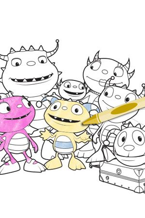 Visit The Henry Hugglemonster Website To Play Games Watch Videos And Print Coloring Pages