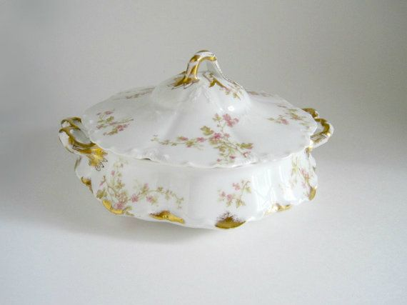 Antique Haviland Limoges China Covered by GoldenDaysAntiques, $125.00