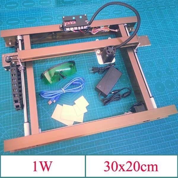 1W A4 Desktop All Metal DIY Violet Laser Engraver Engraving Machine Picture CNC Printer Sale-Banggood.com