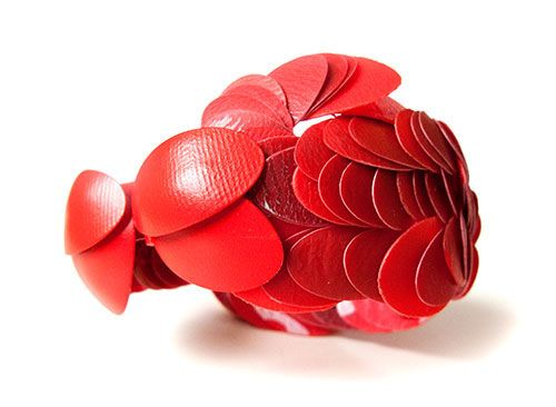 Catching Big Fish, bracelet, recycled plastics, silver, textile. Karin Roy Andersson 2013
