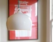 Terracotta-pendant-small-white-glaze-176: Lights Fixtures, Ceramics Pendants, For Ceramic, Chalets Dining