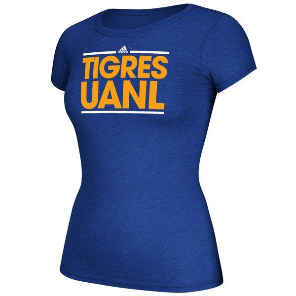 Tigres UANL adidas Women's Cap Sleeve Club Logo T-Shirt - Blue - $23.99