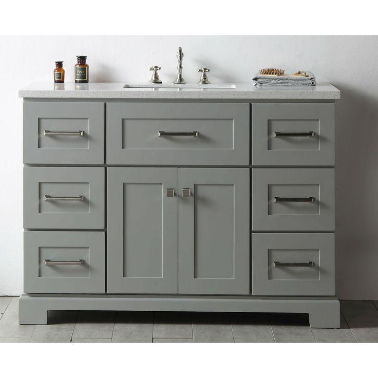 Photo Image Legion Quartz Top Cool inch Single Bathroom Vanity