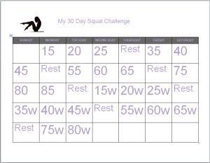 Cassie's 30 Day Squat Challenge