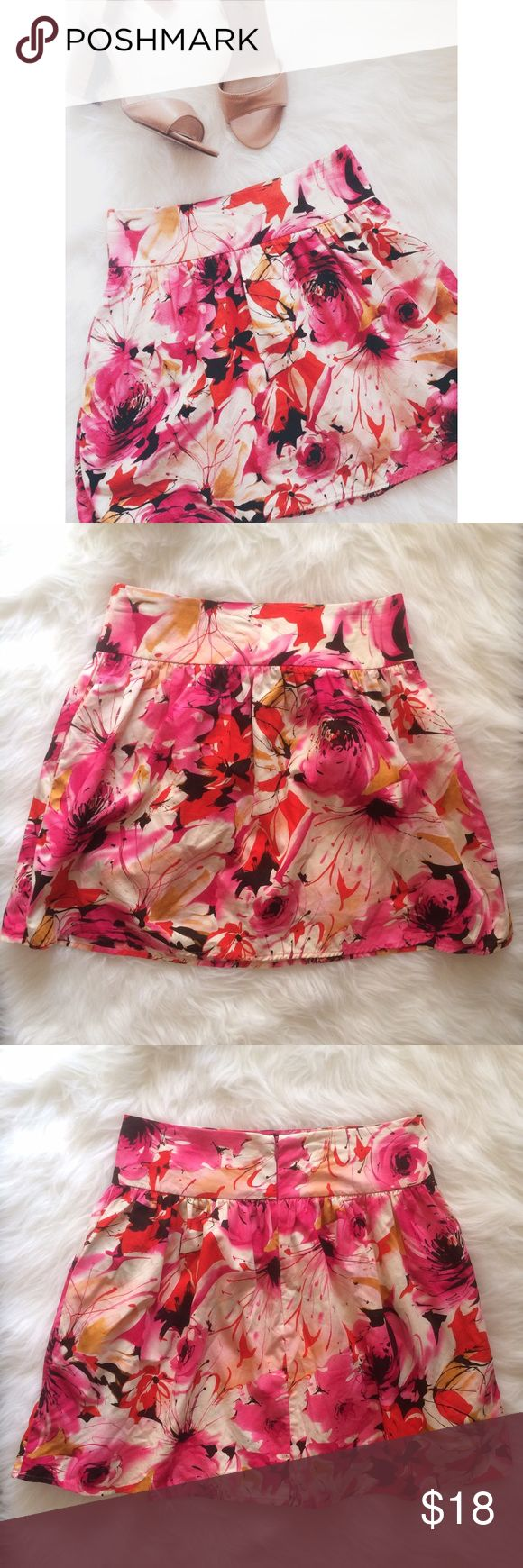 • Forever 21 • Fuchsia Floral Skirt This skirt is gorgeous! It's perfect for Spring! No noticeable stains. Pockets on the sides. Zipper on the back. 0208173.  ✅Reasonable offers welcome! ✅BUNDLE DISCOUNTS! No trades/paypal/other apps. No lowball offers. Forever 21 Skirts