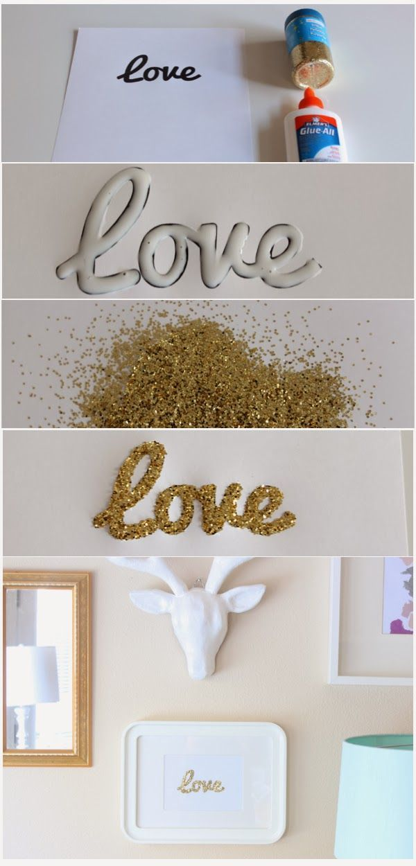 DIY glitter art is creative inspiration for us. Get more photo about home decor related with by looking at photos gallery at the bottom of this page. We are want to say thanks if you like to share this post to another people via your facebook, pinterest, google plus or …