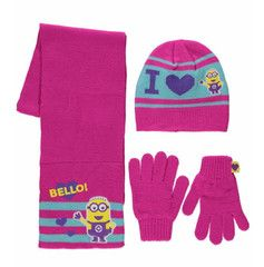 DESPICABLE ME ~ 3pc Pink Knitted Set | Little Gecko
