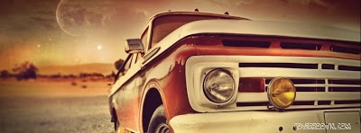 Vintage Car Front Facebook Cover