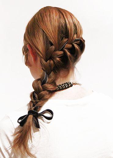 5 Ways to Wear a Black Hair Ribbon — French Braid