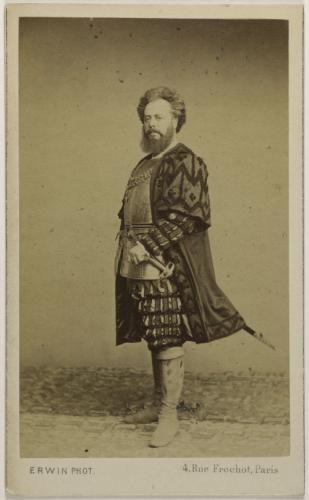Portrait De Belval Jules Bernard Gaffiot Dit 1879 Chanteur
