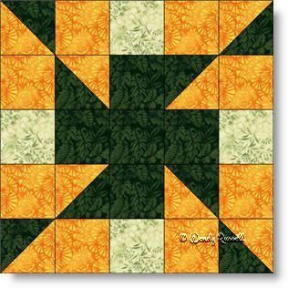 Z CROSS quilt block - a simple Five patch.