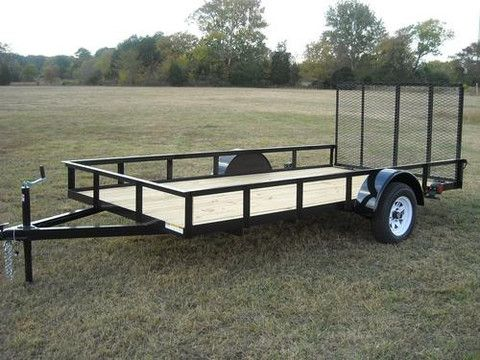 6 x 12 ft Utility Trailer Plans - Single Axle