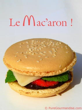 """Mac'""""burger"""" ;-) Today, first day of Spring is THE day of macarons !!!"""