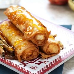 Juicy wrapped apple rolls from Greece. Seriously authentic, half the recipe is in Greek!!