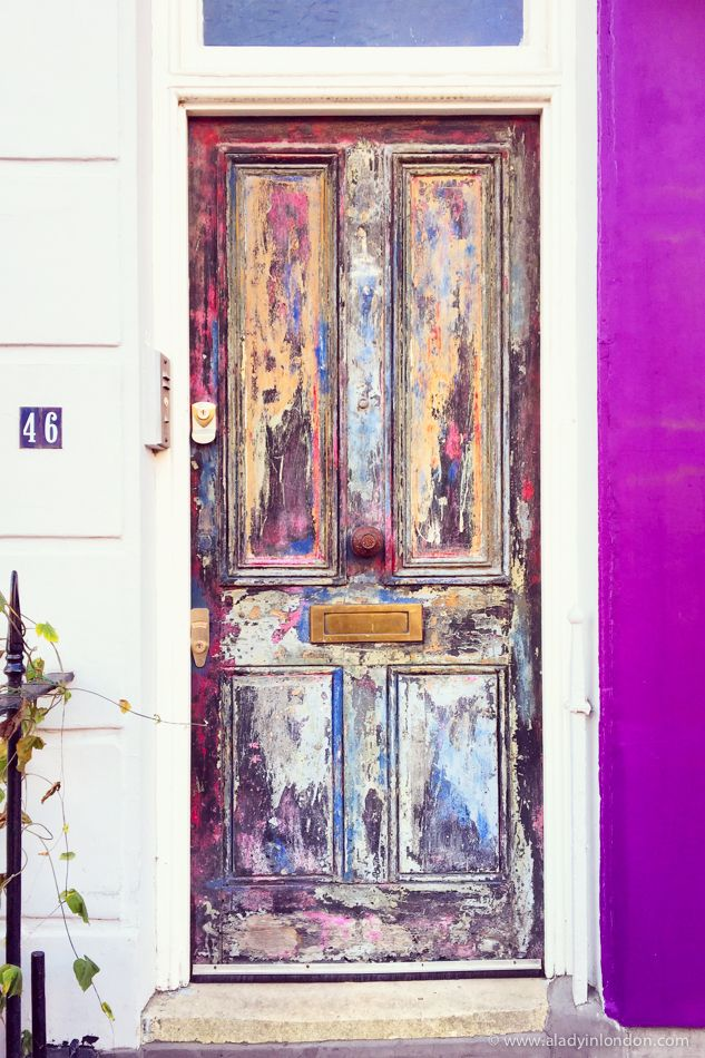 Colorful door in Pimlico, London