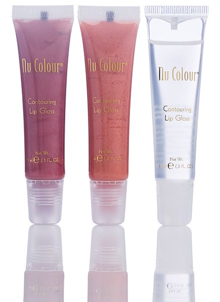 "Would you like more fuller, plumper lips without needles? Kiss thin, undefined lips goodbye with the Contouring Lip Gloss for full, shapely, youthful looking lips. This ultra shiny gloss will define and contour lips, focusing on the ""cupid's bow"" This comes in 3 colours - Clear - Beige - Sweet pink"