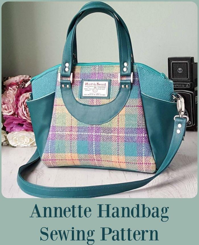 Annette Handbag Tote Bag Sewing Patterns Purses
