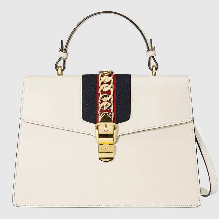 gucci bags for men white. shop the sylvie leather top handle bag by gucci. our in a beautiful shape with nylon web embedded under and decorated gucci bags for men white